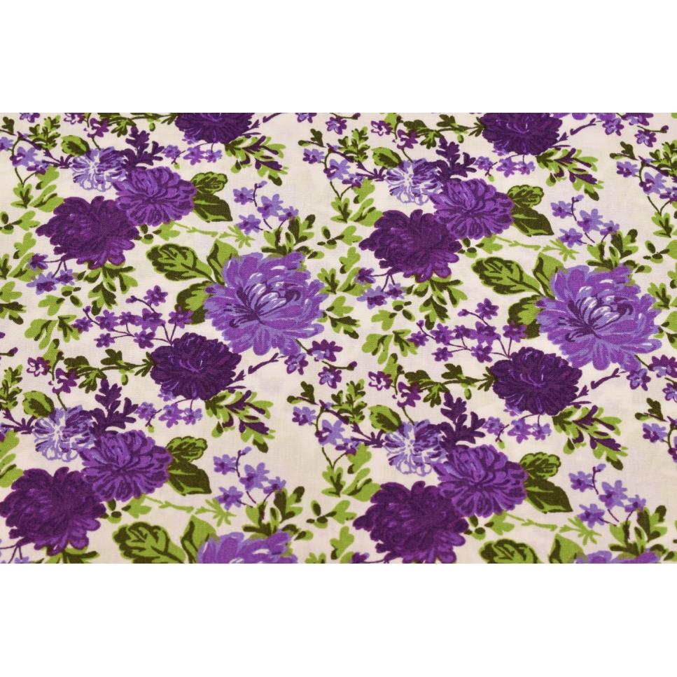 baumwolle blumen lila knol textil. Black Bedroom Furniture Sets. Home Design Ideas