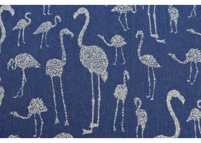 Jeans stretch Flamingos blau