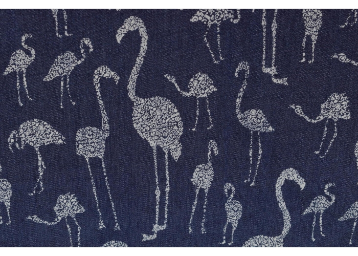 Jeans stretch Flamingos dunkelblau