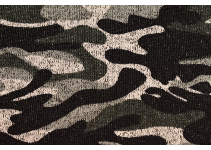 knitted fleece camouflage black/grey