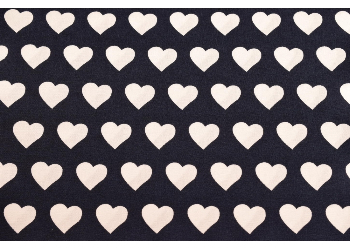 cotton Efteling hearts navy