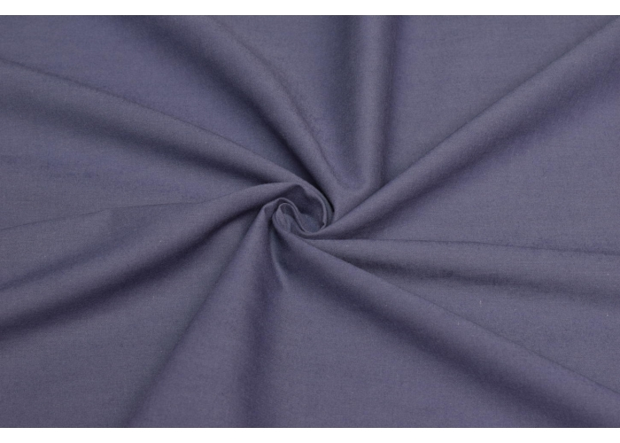cotton voile solid dark steel blue