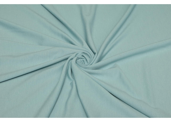 Viskosejersey light mint/meeresblau
