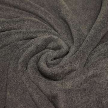 Polar Fleece dunkelgrau meliert