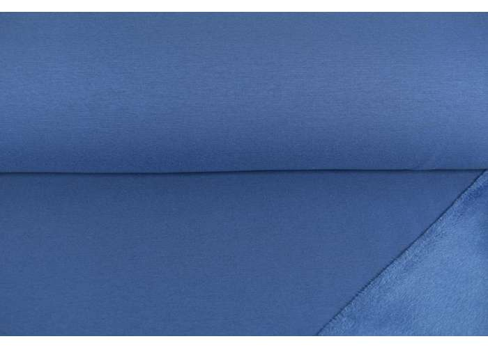 Alpenfleece solid steel blue