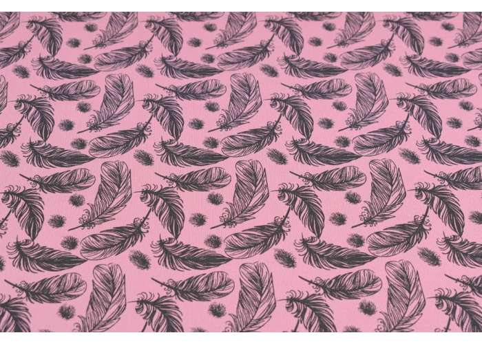 cotton jersey feathers old pink
