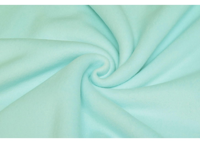Baumwollfleece light mint