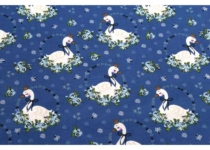 cotton swans steel blue