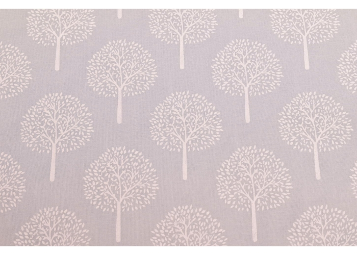 cotton voile trees light grey